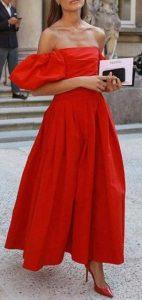 κόκκινο στράπλες φόρεμα