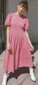 κόκκινο καρό φόρεμα