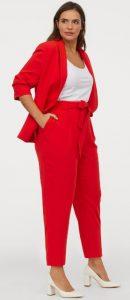 κόκκινο καλοκαιρινό ψηλόμεσο παντελόνι