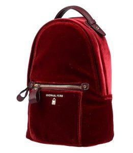 κόκκινο βελούδινο backpack τσάντες Michael Kors