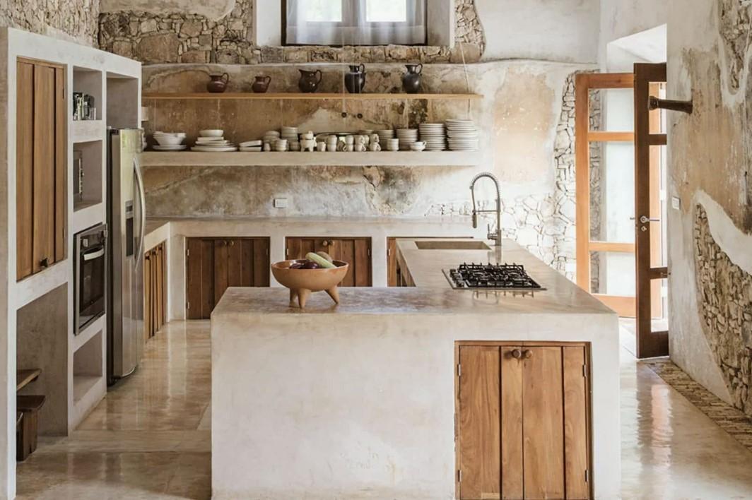 Τάσεις στη κουζίνα 2020, ξύλινα ντουλάπια γαι εουστίκ εμφάνιση