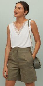 λευκή καλοκαιρινή μπλούζα h&m