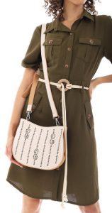 λευκή γυναικεία τσάντα ταχυδρόμου