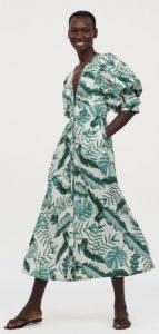 λινό μακρύ καλοκαιρινό φόρεμα