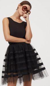 μαύρη φουσκωτή φούστα με τούλι