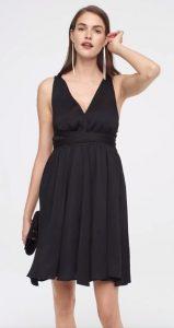 μαύρο φόρεμα βαθύ ντεκολτέ καλοκαίρι 2020