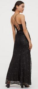 μαύρο μακρύ εξώπλατο φόρεμα