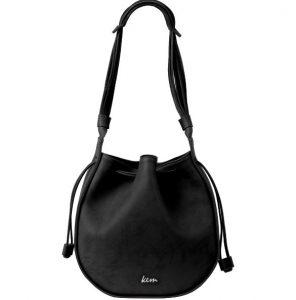 μαύρη δερμάτινη τσάντα πουγκί ανοιξιάτικες καλοκαιρινές τσάντες ΚΕΜ 2020