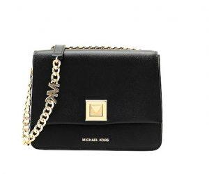 μαύρη μικρή τσάντα ταχυδρόμου