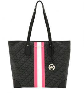 μαύρη τσάντα ροζ άσπρη τσάντα ώμου