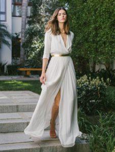 μάξι αέρινο φόρεμα άσπρο
