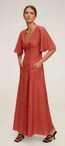 maxi γυναικείο κοντομάνικο φόρεμα