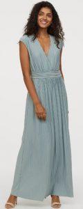 maxi καλοκαιρινό γαλάζιο φόρεμα