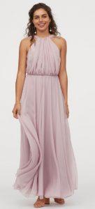 μακρύ ροζ φόρεμα βάφτιση
