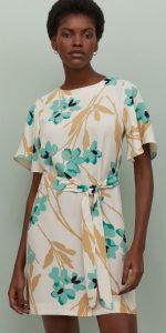 μίνι floral φόρεμα h&m 2020