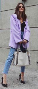 μοβ ανοιχτό παλτό