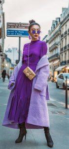 μοβ ντύσιμο street style