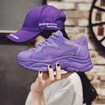 μοβ sneakers