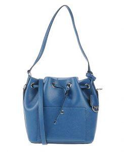 μπλε πουγκί τσάντα ώμου