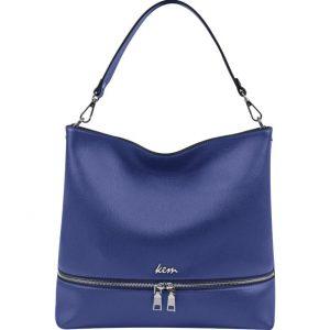 μπλε τσάντα ώμου φερμουάρ