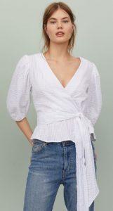 ντραπέ μπλούζα μανίκια με όγκο
