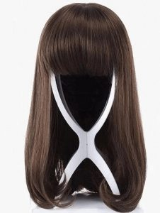 περούκα στη βάση της καστανή φράντζα