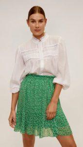 πράσινη αέρινη φούστα