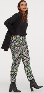 πράσινο floral παντελόνι h&m