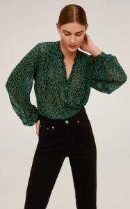 πράσινο μαύρο λεοπάρ γυναικείο πουκάμισο