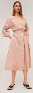 ροζ ανοιχτό φόρεμα άλφα γραμμή