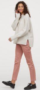 ροζ εφαρμοστό cigarette παντελόνι