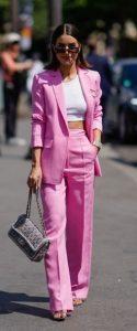 ροζ κουστούμι γυναικείο