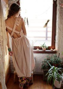 ροζ μάξι φόρεμα ανοιχτή πλάτη