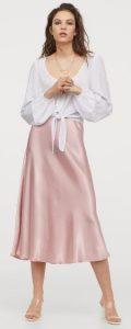 ροζ σατέν φούστα καλοκαίρι 2020