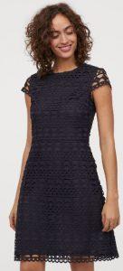 σκούρο μπλε κοντό φόρεμα δίχτυ