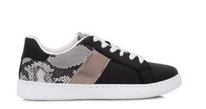 sneakers με φιδέ λεπτομέρεια