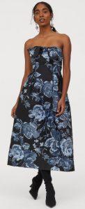strapless βραδινό φόρεμα h&m