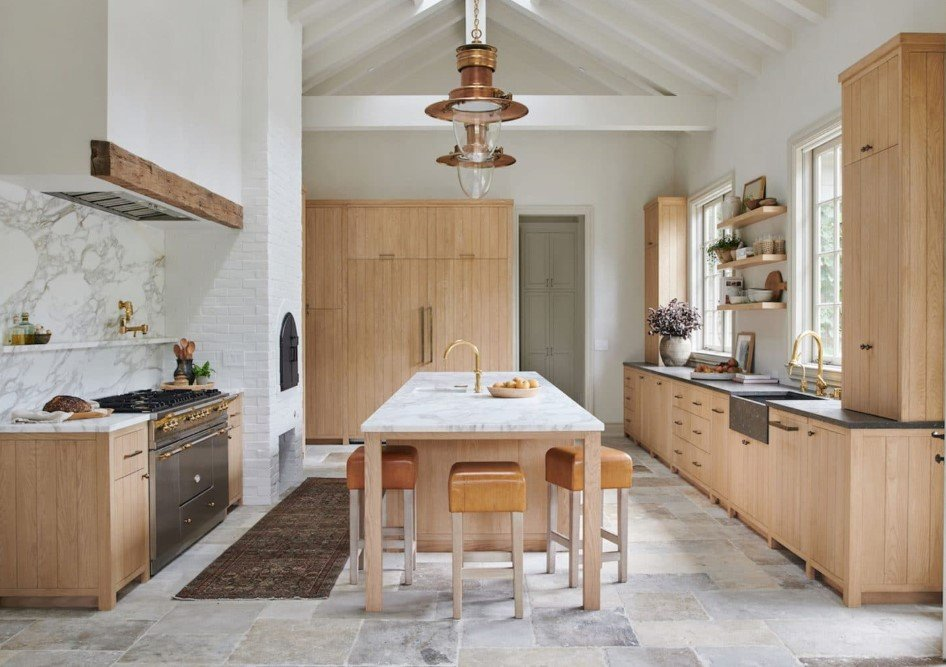 Τάσεις στη κουζίνα 2020, πλακάκια στο πάτωμα