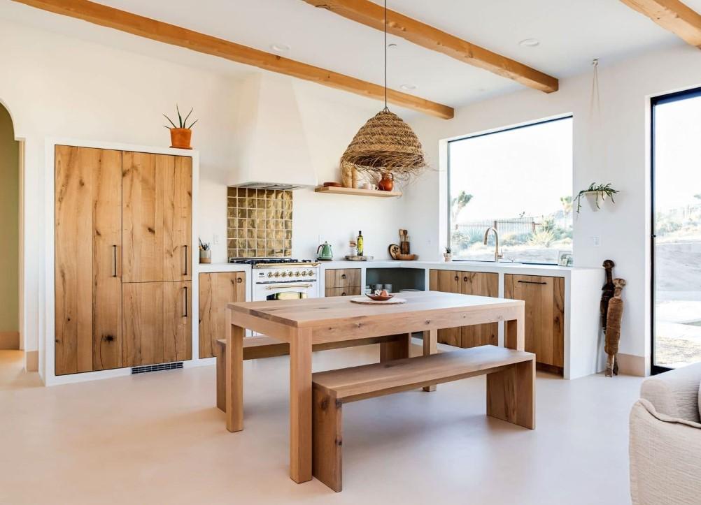 Τάσεις στη κουζίνα 2020, με ρουστικ εμφάνιση και χρήση ξύλου