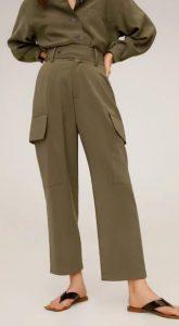 χακί παντελόνι γυναικείο mango