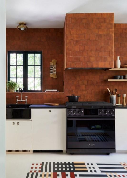 Τάσεις στη κουζίνα 2020, θερμά χρώματα