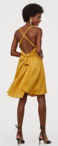 χρυσό mini φόρεμα έξω η πλάτη