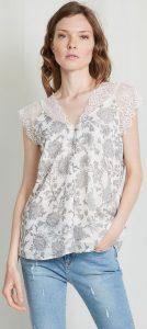 αμάνικη γυναικεία μπλούζα με δαντέλα