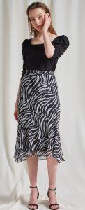 animal print ανοιξιάτικη φούστα