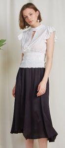 άσπρο top casual γυναικείο ντύσιμο