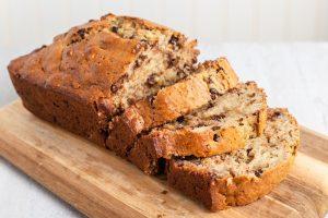 banana bread εύκολη συνταγή σοκολάτα
