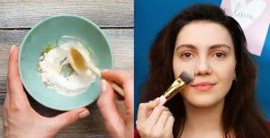 diy φυσικό υγρό makeup
