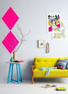 δωμάτιο με έντονα χρώματα