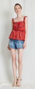 floral αμάνικη γυναικεία μπλούζα