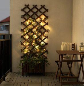 φωτάκια στη βεράντα